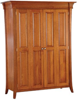 Solid Wood Computer Armoire