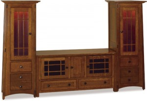 Mission Style Mccoy Wall Entertainment Cabinet