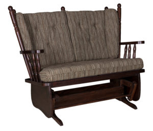 4 Post Low Back Loveseat Glider