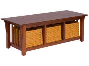 3 Basket Mission Style Bench