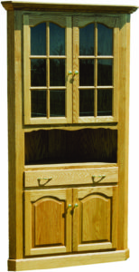 34 Inch Corner Wood Hutch