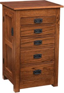35 inch Flush Mission Jewelry Armoire