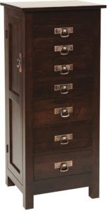 48 inch Flush Mission Jewelry Armoire