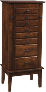 Winged Mill Shaker Jewelry Armoire
