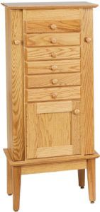Winged 48 inch Shaker Jewelry Armoire