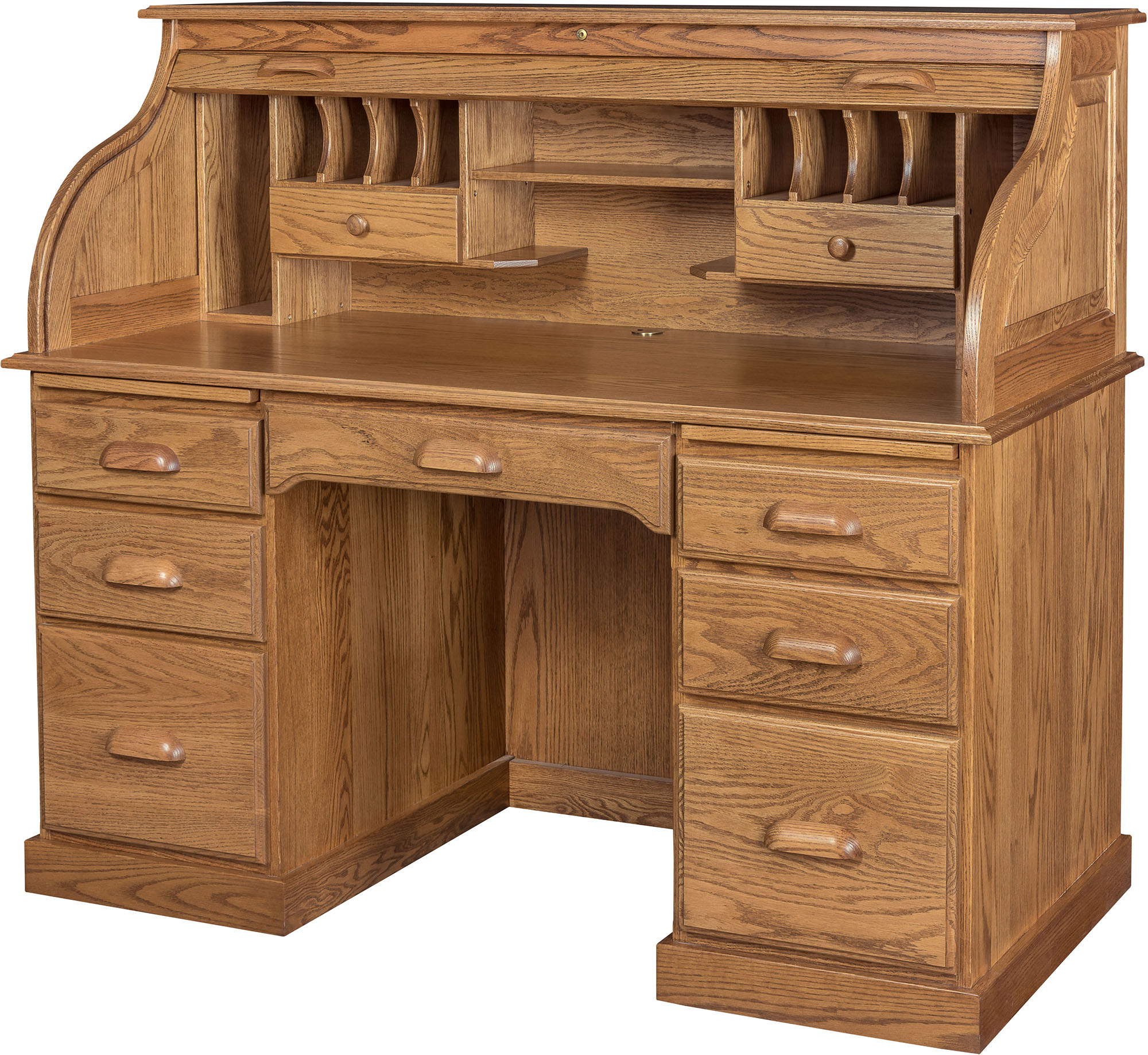 56 Inch Roll Top Desk With Hutch 56 Inch Solid Wood Roll