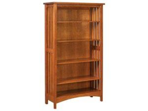 Arts and Crafts Wood Slat Bookcase