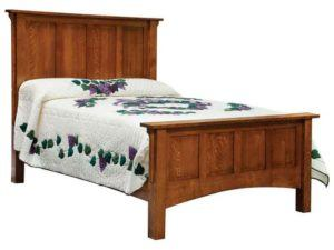 Arts and Crafts Tall Wood Bed
