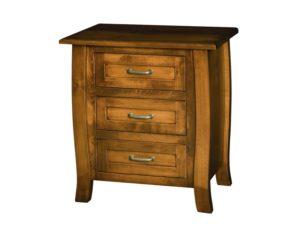 Batavia Three Drawer Wood Nightstand