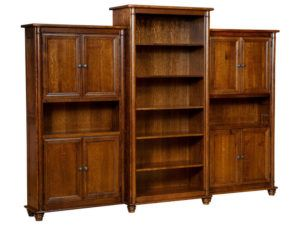 Belmont Hardwood Bookcase Wall
