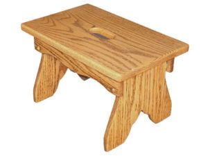 Wooden Bench with Slot