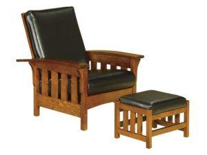 Bow Arm Slat Morris Chair