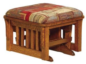 Corbel Bow Arm Slatted Ottoman