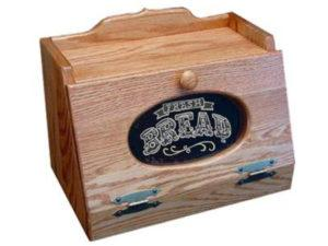 Wooden Bread Box with Plexiglas Front