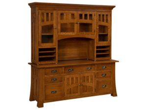 Bridgefort Hardwood Mission Credenza with Topper