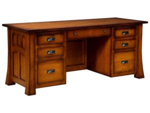 Bridgefort Hardwood Mission Executive Desk