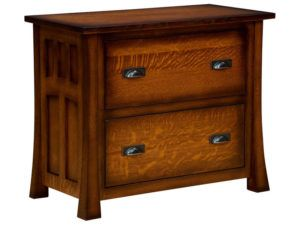Bridgefort Hardwood Mission Lateral File Cabinet