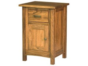 Wooden Amish Brooklyn Mission One Door Nightstand