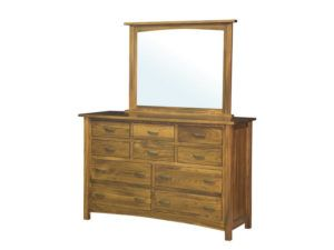 Brooklyn Mission Ten Drawer Dresser with Mirror