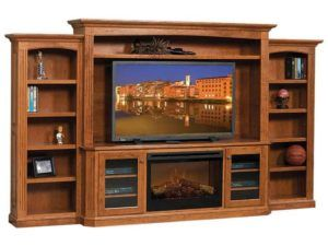 Buckingham Entertainment Center with Fireplace