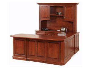 Buckingham U Desk with Hutch