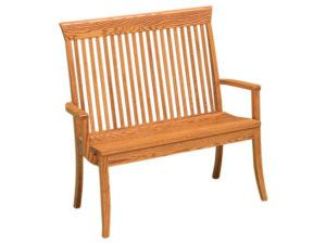 Carlisle Hardwood Deacon Bench