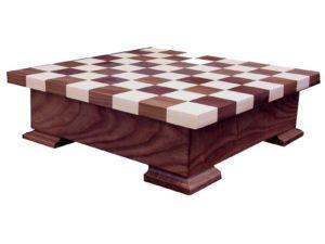 Walnut-Maple Checker Box