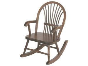 Child's Brown Maple Sheaf Style Rocker