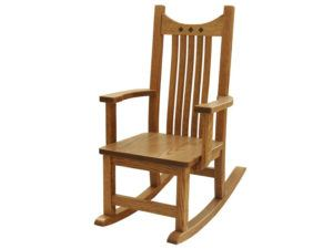 Child's Oak Royal Mission Style Rocker