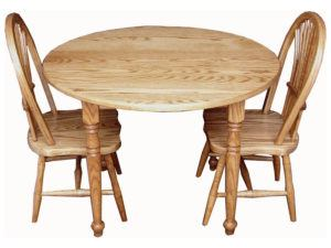 Child Round Table and Two Sheaf Chairs