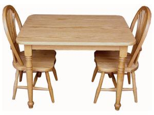 Rectangle Child Table and Two Chairs