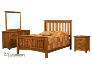 Solid Wood Classic Mission Slat Bed