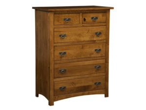 Classic Mission Six Drawer Chest