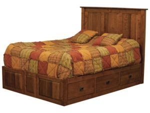 Classic Mission Storage Bed