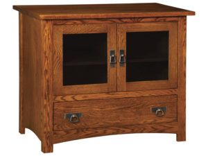 Classic Mission One Drawer, Two Door Plasma Stand