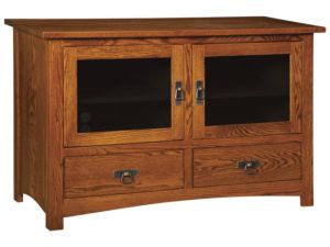 Classic Mission Two Door, Two Drawer Plasma Stand