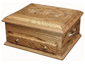 Deluxe Hardwood Jewelry Chest with Rose Engraving
