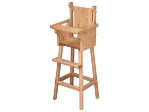 Solid-Wood Doll Highchair