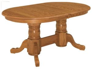 Double Pedestal Oval Table