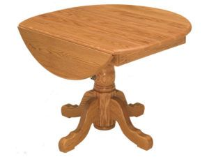 Pedestal Drop Leaf Table