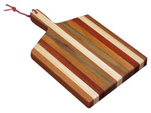 Exotic Hardwood Cutting Board with Handle