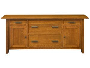 Freemont Mission Hardwood Wide Credenza