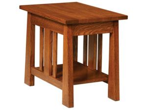 Freemont Open Mission Hardwood Small End Table