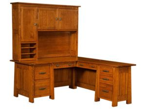 Freemont Mission Hardwood Corner Desk and Topper