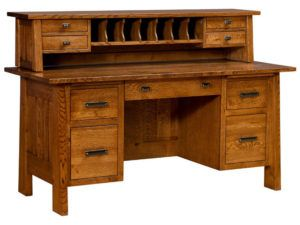 Freemont Hardwood Mission Small File Desk and Topper