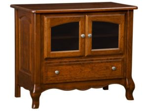 French Country One Drawer, Two Door Plasma Stand