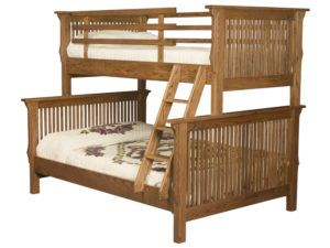 Full-Twin Mission Style Bunk Bed