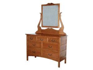 Granny Mission Narrow Seven Drawer Dresser