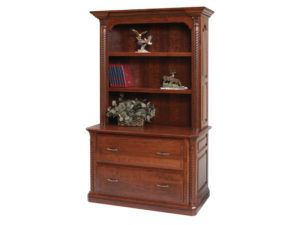 Lexington Lateral File Cabinet with Bookshelf