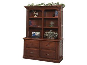 Lexington Double Lateral File Cabinet with Bookshelf